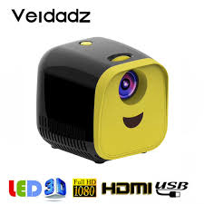 VEIDADZ <b>L1</b> Micro <b>Projector</b> 1080P HDMI Compatible USB <b>Portable</b> ...