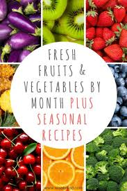 Washington State Seasonal Fruit Chart Fresh Fruits And Vegetables By The Month