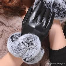 2019 2017 winter warm faux rabbit fur pu leather gloves touch screen texting fleece lined mittens for women from nbkingstar 37 35 dhgate com