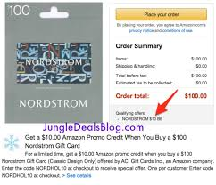 hot 100 nordstrom gift card get 10 amazon credit