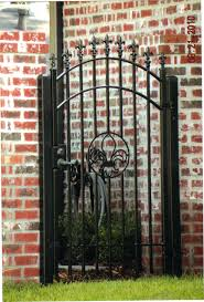 wrought iron fence gate.  Gate Decorative Residential Wrought Iron Gates In Fence Gate