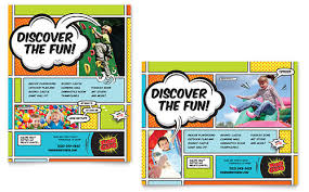 Informational Poster Sample Layout Kids Club Poster Template Design