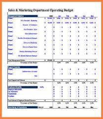 sales department budget template 6 departmental budget spreadsheet costs spreadsheet