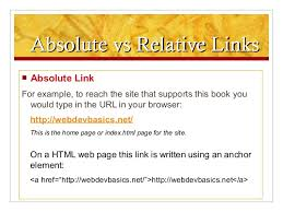 HTML Linking Overview