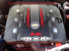 camaro engine cover 2010 2015 chevy camaro rs v6 engine cover decal set flames bowtie accessories ls