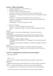 Syntactic Development Chart Resumme Zusammenfassung Introduction To Linguistics I