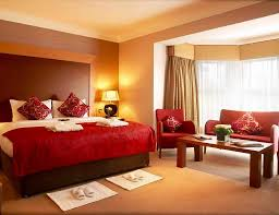 Amazing Feng Shui Bedroom Colors With Nice Red Beddings And Wall Decor
