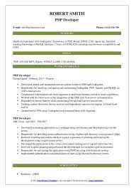 Php Developer Resume Backend Developer Resume Samples Resume Examples Resume