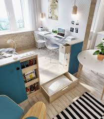 office space storage. Office:Nice Hidden Office Space By The Window With Minimalist Desk And Unque Storage Units O