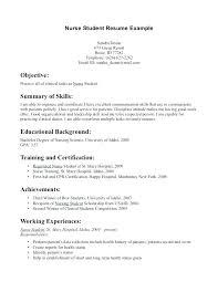 Nursing Student Resume Sample Student Nurse Resume Examples Skinalluremedspa Com