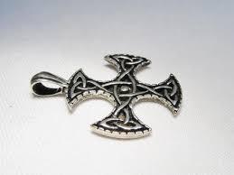 vintage sterling silver celtic cross necklace pendant car 6313 1817470394
