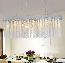 modern rectangular chandelier idea for dining rooms