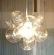bubble glass led pendant light lamp shade ceiling habitat