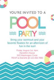 invitation party templates free pool party invitation templates greetings island