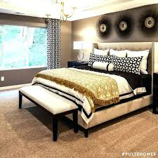 Gold Themed Bedroom Plush Design Black And Decor Purple Cozy ...