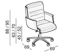 dimensions mr big low back executive chair