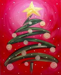Simple Christmas Designs To Paint Canvas Painting Projects Simple Ideas 29 Christmas Tree