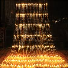 Waterfall Fairy Lights Uk Thrisdar 3 3m 3 6m Waterfall Window Curtain Icicle Light