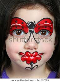 flower makeup ideas new stock photo pretty with face painting of a ladybug of