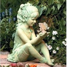 children garden statues. Resin Statues Garden Children Animal Ornaments Uk . G