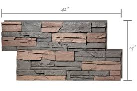 home depot faux stone full panel