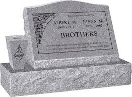 Design My Own Headstone 24 X 10 X 16 Serp Top Slant Headstone Polished Front And Back With 34 Base And Square Tapered Vase