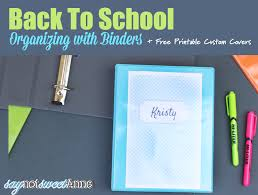 Custom Binder Cover Organize For School With Printable Notebook Covers Sweet Anne Designs