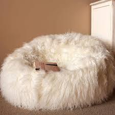 elegant furry bean bag chair