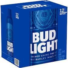 12 Pack Bud Light Bottles Bud Light 16oz 473ml Aluminum Bottle 12 Pack