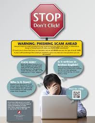 technical support center information technology washington stop don t click poster for cyber security