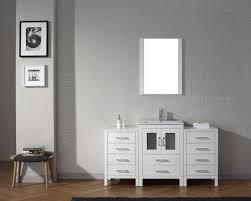 virtu usa 60 dior single sink bathroom vanity set in white with ceramic countertop integrated