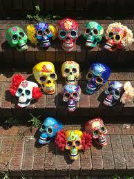 Sugar Skull Bathroom Decor Day Of The Dead Painted Sugar Skull Skull Sculpture