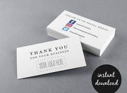 Avery Com Templates 28878 Business Social Media Thank You Business Card W Icons