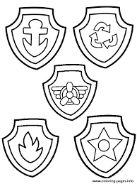 Small Picture Paw Patrol Badge Coloring Pages Printable