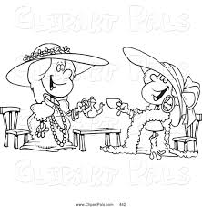 Small Picture Pal Clipart of a Black and White Coloring Page Outline Design of