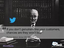 Ibm Quote Inspiration Thomas Watson Former CEO IBM Customerservice Quotes Customer