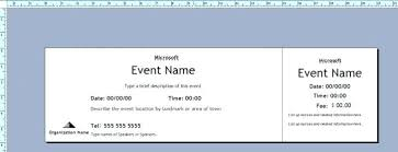 Event Ticket Template Word Word Event Ticket Template Digitalhustle Co