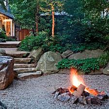 Rustic campfire style fire pit