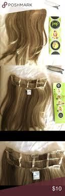 Clip In 16in Straight Blonde Hair