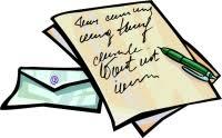 Image result for clip art written letter