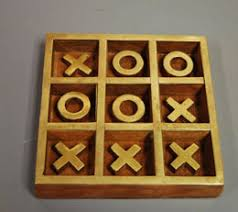 Wooden Naughts And Crosses Game Handmade Wood and Brass noughts and crosses game 6