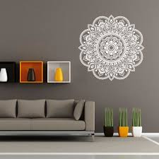 stickers mandala flower chambre indian living wall stickers