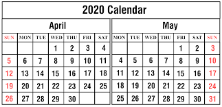 April 2020 Template Printable December Calendar Template Part 3