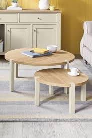 malvern cream nest of 2 coffee tables