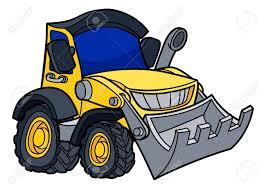 Dessin Anim Bulldozer Digger Construction V Hicule Illustration