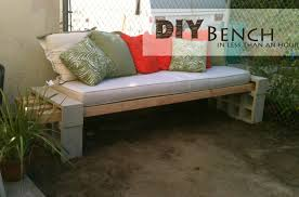 Diy Bench The Basement Diy Outdoor Bench In Less Than An Hour