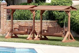... Entrancing Accessories For Garden Decoration With Various Wooden Swing  Design : Charming Furniture For Backyard Landscaping ...