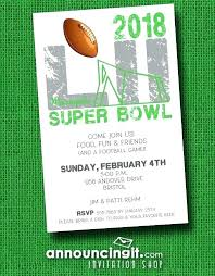 Awe Inspiring Super Bowl Party Invitations Invitation Template Word