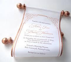 calligraphy wedding invitation bronze fabric scroll invitation copper wedding invitations elegant wedding calligraphy invites 10