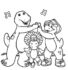 Small Picture Barney Coloring Pages GetColoringPagescom